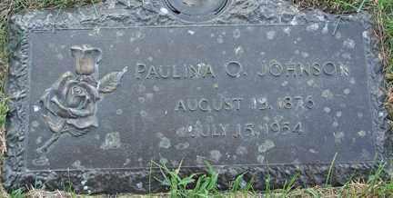 JOHNSON, PAULINA O. - Minnehaha County, South Dakota | PAULINA O. JOHNSON - South Dakota Gravestone Photos