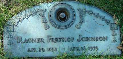JOHNSON, RAGNER FRETHOF - Minnehaha County, South Dakota   RAGNER FRETHOF JOHNSON - South Dakota Gravestone Photos