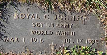 JOHNSON, ROYAL C. - Minnehaha County, South Dakota | ROYAL C. JOHNSON - South Dakota Gravestone Photos