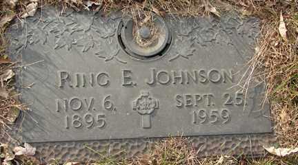 JOHNSON, RING E. - Minnehaha County, South Dakota   RING E. JOHNSON - South Dakota Gravestone Photos