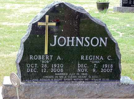 JOHNSON, REGINA C. - Minnehaha County, South Dakota | REGINA C. JOHNSON - South Dakota Gravestone Photos