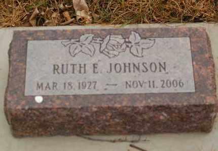 JOHNSON, RUTH E. - Minnehaha County, South Dakota   RUTH E. JOHNSON - South Dakota Gravestone Photos