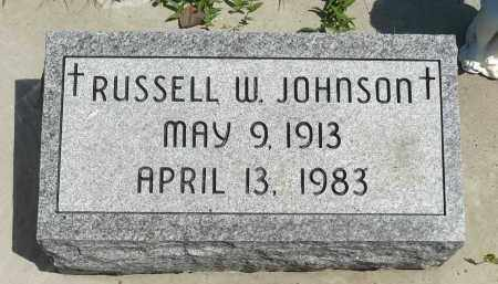 JOHNSON, RUSSELL W. - Minnehaha County, South Dakota | RUSSELL W. JOHNSON - South Dakota Gravestone Photos
