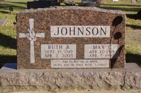 JOHNSON, MAX C. DR. - Minnehaha County, South Dakota | MAX C. DR. JOHNSON - South Dakota Gravestone Photos