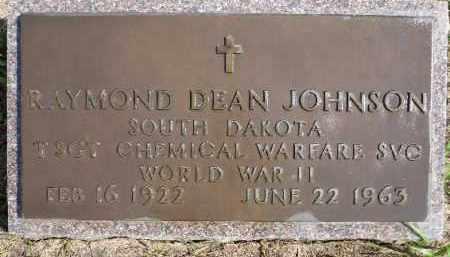 JOHNSON, RAYMOND DEAN (WWII) - Minnehaha County, South Dakota | RAYMOND DEAN (WWII) JOHNSON - South Dakota Gravestone Photos