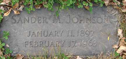 JOHNSON, SANDER M. - Minnehaha County, South Dakota | SANDER M. JOHNSON - South Dakota Gravestone Photos