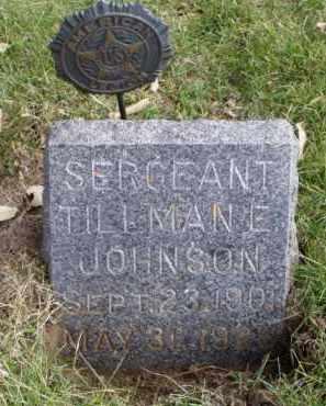JOHNSON, TILLMAN E. - Minnehaha County, South Dakota | TILLMAN E. JOHNSON - South Dakota Gravestone Photos