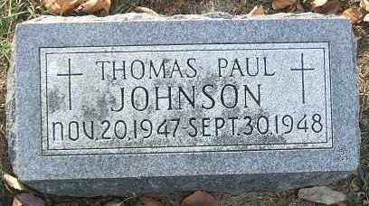 JOHNSON, THOMAS PAUL - Minnehaha County, South Dakota | THOMAS PAUL JOHNSON - South Dakota Gravestone Photos