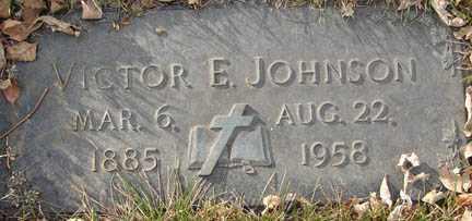 JOHNSON, VICTOR E. - Minnehaha County, South Dakota   VICTOR E. JOHNSON - South Dakota Gravestone Photos