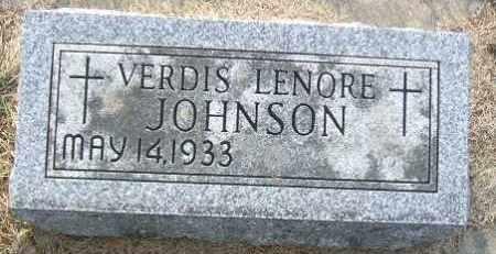 JOHNSON, VERDIS LENORE - Minnehaha County, South Dakota | VERDIS LENORE JOHNSON - South Dakota Gravestone Photos