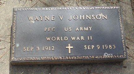 JOHNSON, WAYNE V. - Minnehaha County, South Dakota | WAYNE V. JOHNSON - South Dakota Gravestone Photos