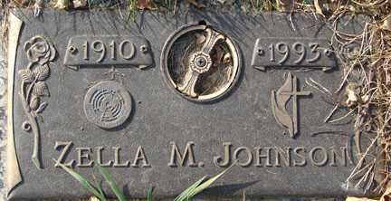 JOHNSON, ZELLA M. - Minnehaha County, South Dakota | ZELLA M. JOHNSON - South Dakota Gravestone Photos