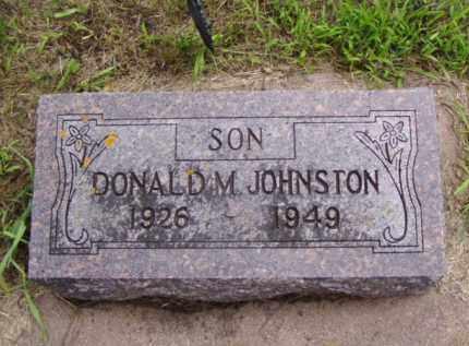 JOHNSTON, DONALD M. - Minnehaha County, South Dakota | DONALD M. JOHNSTON - South Dakota Gravestone Photos