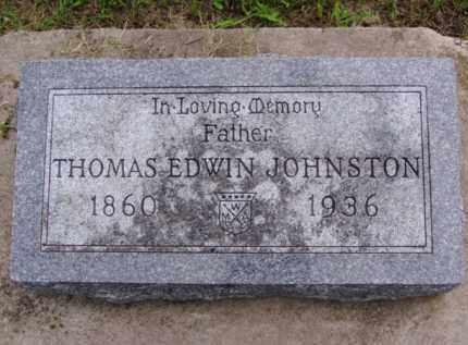 JOHNSTON, THOMAS EDWIN - Minnehaha County, South Dakota | THOMAS EDWIN JOHNSTON - South Dakota Gravestone Photos