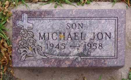 JON, MICHAEL - Minnehaha County, South Dakota   MICHAEL JON - South Dakota Gravestone Photos