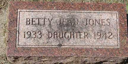 JONES, BETTY JEAN - Minnehaha County, South Dakota   BETTY JEAN JONES - South Dakota Gravestone Photos