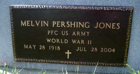 JONES, MELVIN PERSHING (WWII) - Minnehaha County, South Dakota | MELVIN PERSHING (WWII) JONES - South Dakota Gravestone Photos