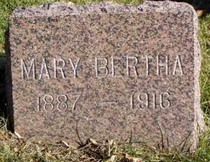 JONES, MARY BERTHA - Minnehaha County, South Dakota | MARY BERTHA JONES - South Dakota Gravestone Photos