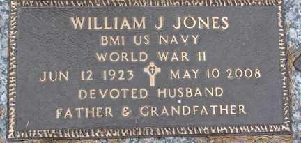 JONES, WILLIAM J. (WWII) - Minnehaha County, South Dakota   WILLIAM J. (WWII) JONES - South Dakota Gravestone Photos