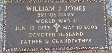 JONES, WILLIAM J. (WWII) - Minnehaha County, South Dakota | WILLIAM J. (WWII) JONES - South Dakota Gravestone Photos