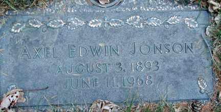 JONSON, AXEL EDWIN - Minnehaha County, South Dakota | AXEL EDWIN JONSON - South Dakota Gravestone Photos