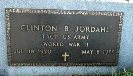 JORDAHL, CLINTON B. (WWII) - Minnehaha County, South Dakota   CLINTON B. (WWII) JORDAHL - South Dakota Gravestone Photos