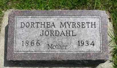 JORDAHL, DORTHEA MYRSETH - Minnehaha County, South Dakota | DORTHEA MYRSETH JORDAHL - South Dakota Gravestone Photos