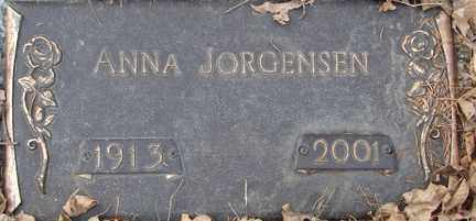 JORGENSEN, ANNA - Minnehaha County, South Dakota | ANNA JORGENSEN - South Dakota Gravestone Photos