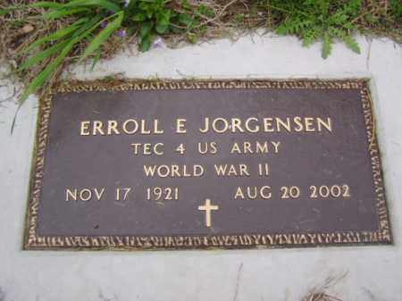 JORGENSEN, ERROLL E. - Minnehaha County, South Dakota | ERROLL E. JORGENSEN - South Dakota Gravestone Photos