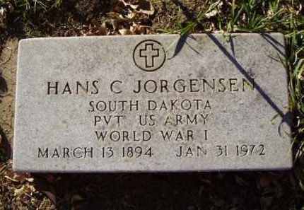 JORGENSEN, HANS C. - Minnehaha County, South Dakota | HANS C. JORGENSEN - South Dakota Gravestone Photos