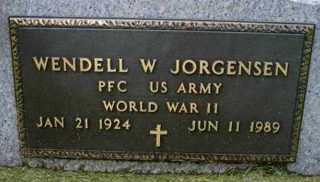 JORGENSEN, WENDELL W. (WWII) - Minnehaha County, South Dakota | WENDELL W. (WWII) JORGENSEN - South Dakota Gravestone Photos