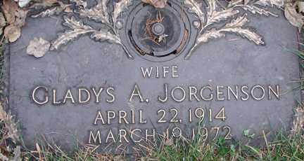 JORGENSON, GLADYS A. - Minnehaha County, South Dakota | GLADYS A. JORGENSON - South Dakota Gravestone Photos