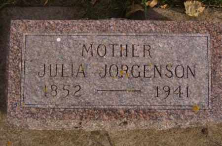 JORGENSON, JULIA - Minnehaha County, South Dakota | JULIA JORGENSON - South Dakota Gravestone Photos