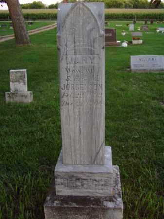 JORGENSON, MARY - Minnehaha County, South Dakota   MARY JORGENSON - South Dakota Gravestone Photos