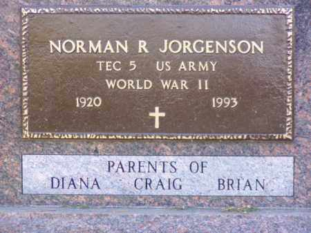 JORGENSON, NORMAN R. - Minnehaha County, South Dakota | NORMAN R. JORGENSON - South Dakota Gravestone Photos