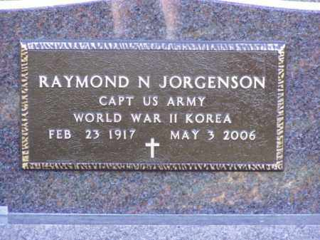 JORGENSON, RAYMOND N. - Minnehaha County, South Dakota | RAYMOND N. JORGENSON - South Dakota Gravestone Photos