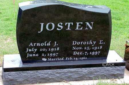 JOSTEN, DOROTHY E. - Minnehaha County, South Dakota | DOROTHY E. JOSTEN - South Dakota Gravestone Photos