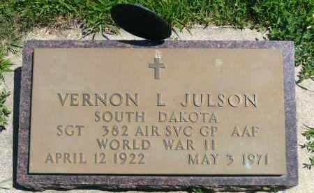 JULSON, VERNON L. (WWII) - Minnehaha County, South Dakota | VERNON L. (WWII) JULSON - South Dakota Gravestone Photos