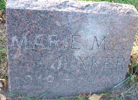 JUNKER, MARIE M. - Minnehaha County, South Dakota   MARIE M. JUNKER - South Dakota Gravestone Photos