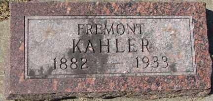 KAHLER, FREMONT - Minnehaha County, South Dakota | FREMONT KAHLER - South Dakota Gravestone Photos