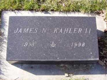 KAHLER, JAMES II - Minnehaha County, South Dakota   JAMES II KAHLER - South Dakota Gravestone Photos