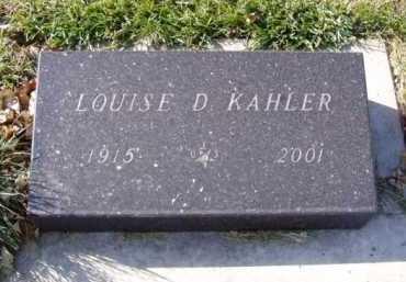 KAHLER, LOUISE D. - Minnehaha County, South Dakota | LOUISE D. KAHLER - South Dakota Gravestone Photos