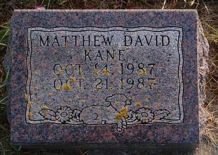 KANE, MATTHEW DAVID - Minnehaha County, South Dakota | MATTHEW DAVID KANE - South Dakota Gravestone Photos