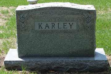 KARLEY, HEADSTONE - Minnehaha County, South Dakota | HEADSTONE KARLEY - South Dakota Gravestone Photos