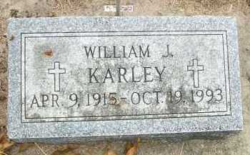 KARLEY, WILLIAM J. - Minnehaha County, South Dakota | WILLIAM J. KARLEY - South Dakota Gravestone Photos
