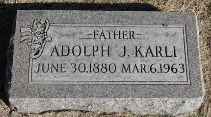 KARLI, ADOLPH J. - Minnehaha County, South Dakota   ADOLPH J. KARLI - South Dakota Gravestone Photos
