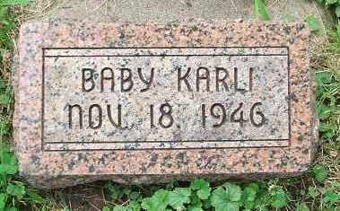 KARLI, BABY - Minnehaha County, South Dakota | BABY KARLI - South Dakota Gravestone Photos
