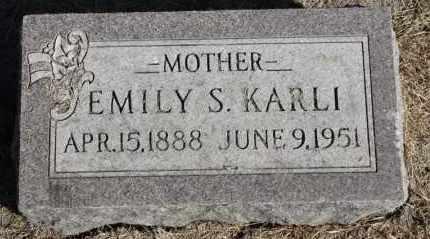 KARLI, EMILY S. - Minnehaha County, South Dakota | EMILY S. KARLI - South Dakota Gravestone Photos