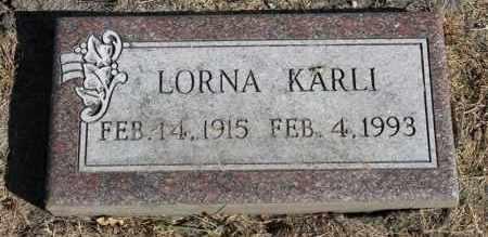 KARLI, LORNA - Minnehaha County, South Dakota   LORNA KARLI - South Dakota Gravestone Photos