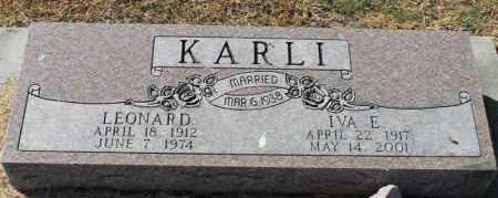 KARLI, LEONARD - Minnehaha County, South Dakota | LEONARD KARLI - South Dakota Gravestone Photos
